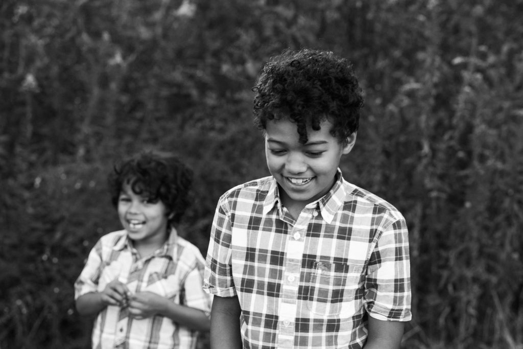brothers, laughing, black and white images